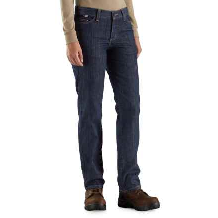 Carhartt Flame-Resistant Original Fit Rugged Flex® Jeans - Factory 2nds (For Women) in Premium Dark - 2nds