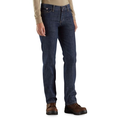 Carhartt Flame-Resistant Original Fit Rugged Flex® Jeans - Factory 2nds (For Women) in Premium Dark