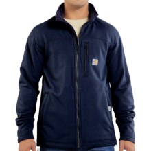 Carhartt Flame-Resistant Portage Jacket - Polartec® Wind Pro® Fleece (For Big and Tall Men) in Dark Navy - 2nds