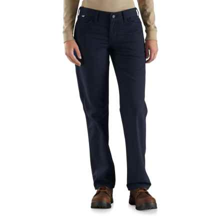Carhartt Flame-Resistant Rugged Flex® Canvas Pants - Factory Seconds (For Women) in Dark Navy - 2nds