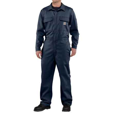 Carhartt Flame-Resistant Traditional Twill Coveralls - Factory Seconds (For Men) in Dark Navy - 2nds