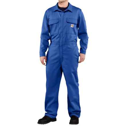 Carhartt Flame-Resistant Traditional Twill Coveralls - Factory Seconds (For Men) in Royal - 2nds