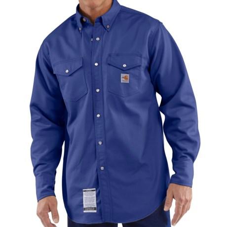 Carhartt flame resistant twill work shirt long sleeve for Carhartt work shirts tall