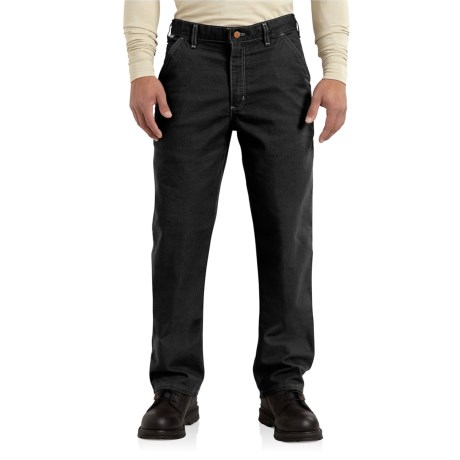 Image of Carhartt Flame-Resistant Washed Duck Work Dungaree Pants (For Men)