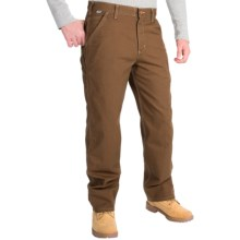 Carhartt Flame-Resistant Washed Duck Work Dungarees (For Men) in Mid Brown - 2nds