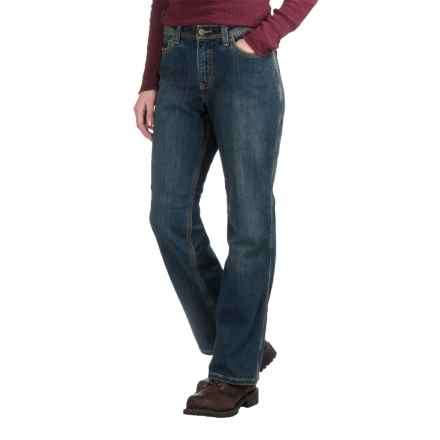 Carhartt Flannel-Lined Boone Jeans - Relaxed Fit, Factory Seconds (For Women) in Authentic Indigo - 2nds