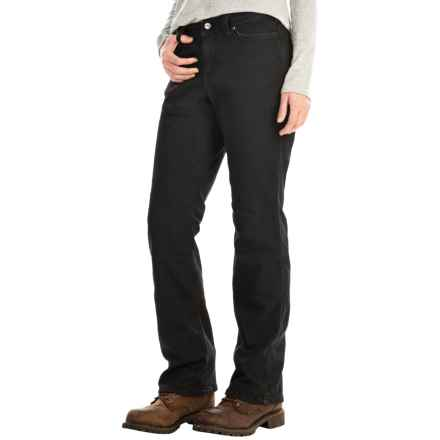 Carhartt Flannel-Lined Boone Jeans - Relaxed Fit, Factory Seconds (For Women) in Black - 2nds