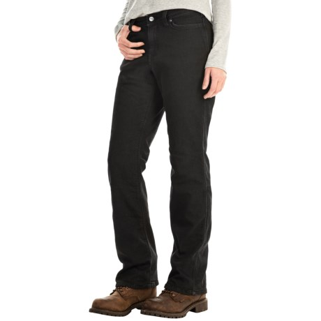 Carhartt Flannel-Lined Boone Jeans - Relaxed Fit, Straight Leg (For Women)