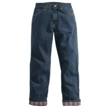 Carhartt Flannel-Lined Jeans - Relaxed Fit (For Women) in Antique Darkstone - 2nds