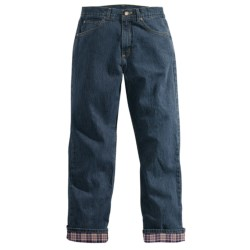 Carhartt Flannel-Lined Jeans - Relaxed Fit (For Women) in Antique Darkstone