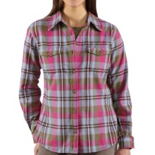 Carhartt Flannel Shirt - Midweight, Long Sleeve (For Women) in Vine Green - 2nds