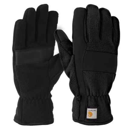 Carhartt Fleece Duck Gloves (For Men) in Black - Closeouts