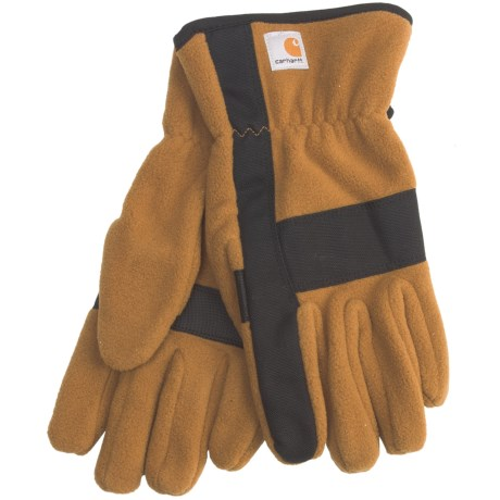 Carhartt Fleece Duck Gloves (For Men) in Brown/Black