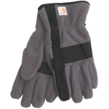 Carhartt Fleece Duck Gloves (For Men) in Gravel/Black - Closeouts