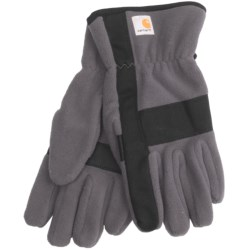 Carhartt Fleece Duck Gloves (For Men) in Gravel/Black