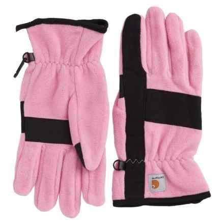 Carhartt Fleece Duck Gloves (For Women) in Rose Black - Closeouts