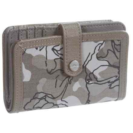 Carhartt Floral Camo Medium Zip Wallet (For Women) in Asphalt - Closeouts