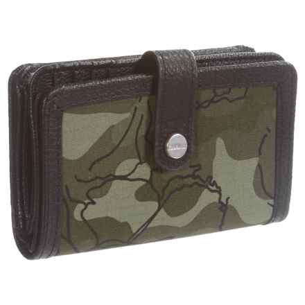 Carhartt Floral Camo Medium Zip Wallet (For Women) in Olive - Closeouts