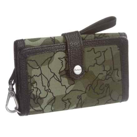 Carhartt Floral Camo Phone Clutch (For Women) in Olive - Closeouts