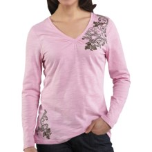 Carhartt Floral Graphic T-Shirt - V-Neck, Long Sleeve (For Women) in Faded Petal - Closeouts