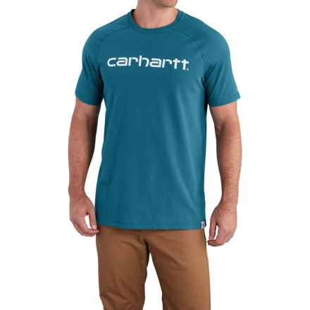 Carhartt Force Cotton Delmont Graphic T-Shirt - Short Sleeve, Factory Seconds (For Big and Tall Men) in Bay Harbor - 2nds