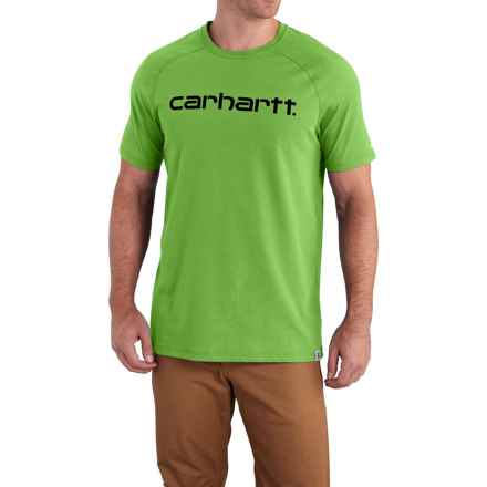 Carhartt Force Cotton Delmont Graphic T-Shirt - Short Sleeve, Factory Seconds (For Big and Tall Men) in Foliage - 2nds