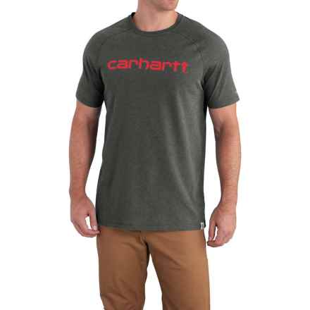 Carhartt Force Cotton Delmont Graphic T-Shirt - Short Sleeve, Factory Seconds (For Men) in Carbon Heather - 2nds