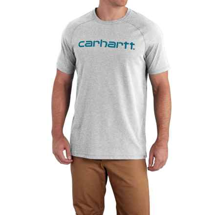 Carhartt Force Cotton Delmont Graphic T-Shirt - Short Sleeve, Factory Seconds (For Men) in Heather Gray - 2nds