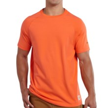 Carhartt Force Cotton Delmont T-Shirt - Relaxed Fit, Short Sleeve (For Men) in Orange - 2nds