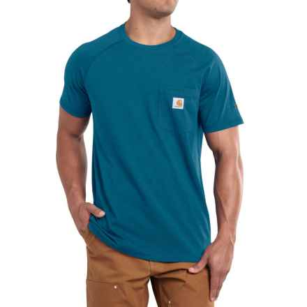 Carhartt Force® Cotton Delmont T-Shirt - Short Sleeve, Factory Seconds (For Big and Tall Men) in Bay Harbor - 2nds