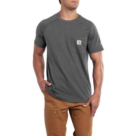 Carhartt Force® Cotton Delmont T-Shirt - Short Sleeve, Factory Seconds (For Big and Tall Men) in Carbon Heather - 2nds