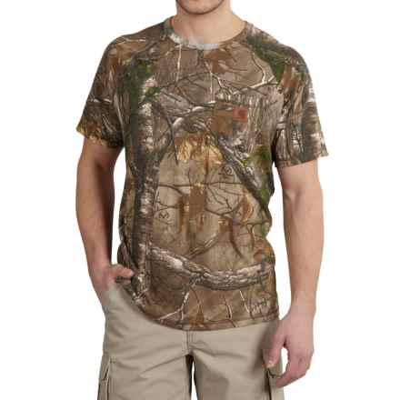 Carhartt Force Cotton Delmont T-Shirt - Short Sleeve, Factory Seconds (For Big and Tall Men) in Realtree Xtra - 2nds