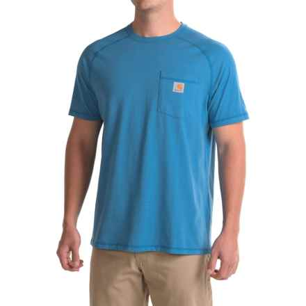 Carhartt Force Delmont Fishing Graphic T-Shirt - Short Sleeve, Factory Seconds (For Men) in Cool Blue - 2nds