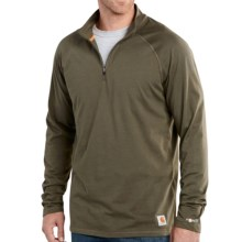 Carhartt Force Delmont Shirt - Zip Neck, Long Sleeve (For Men) in Moss - 2nds