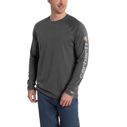 89bc0c7eddc Carhartt Force® Delmont T-Shirt - Long Sleeve (For Men) in Carbon