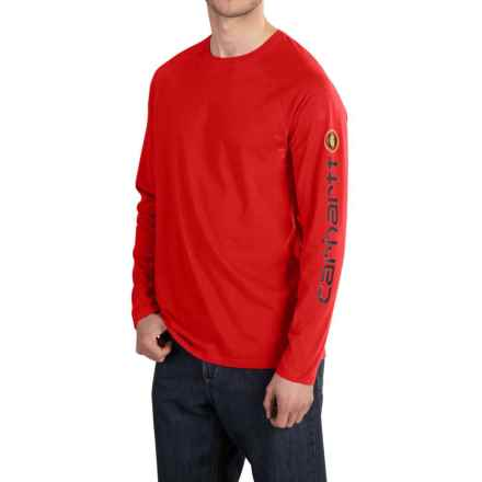 Carhartt Force® Delmont T-Shirt - Long Sleeve (For Men) in Electric Red - 2nds