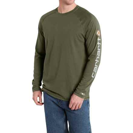 Carhartt Force® Delmont T-Shirt - Long Sleeve (For Men) in Moss - 2nds