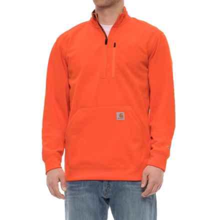 Carhartt Force Extremes® Mock Neck Sweatshirt - Zip Neck (For Men) in Hunter Orange - Closeouts