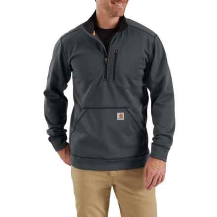 Carhartt Force Extremes® Mock Neck Sweatshirt - Zip Neck (For Men) in Shadow - Closeouts