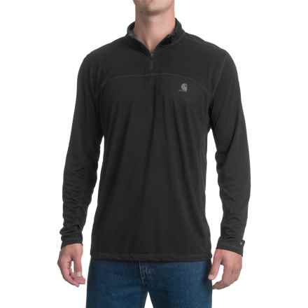 Carhartt Force Extremes Shirt - Zip Neck, Long Sleeve, Factory Seconds (For Men) in Black - 2nds