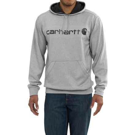 Carhartt Force Extremes Signature Graphic Hooded Sweatshirt - Factory Seconds (For Big and Tall Men) in Asphalt Heather - 2nds