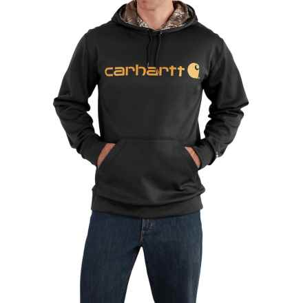 Carhartt Force Extremes Signature Graphic Hooded Sweatshirt - Factory Seconds (For Big and Tall Men) in Black - 2nds