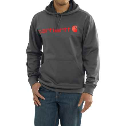 Carhartt Force Extremes Signature Graphic Hooded Sweatshirt - Factory Seconds (For Big and Tall Men) in Shadow - 2nds