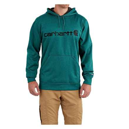 Carhartt Force Extremes Signature Graphic Hooded Sweatshirt - Factory Seconds (For Men) in Everglade Heather - 2nds