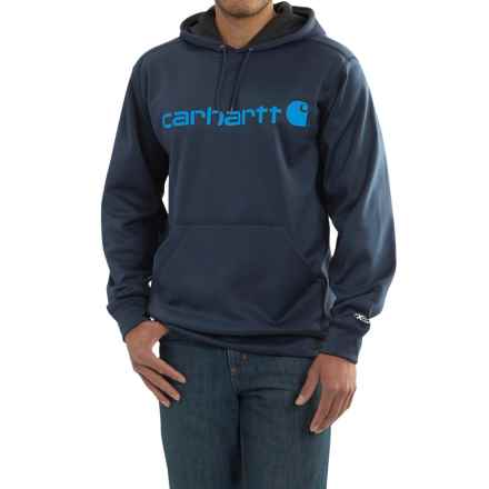 Carhartt Force Extremes Signature Graphic Hooded Sweatshirt (For Big and Tall Men) in Navy - 2nds
