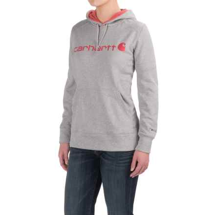 Carhartt Force Extremes Signature Graphic Hoodie - Factory Seconds (For Women) in Asphalt Heather - 2nds