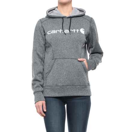Carhartt Force Extremes Signature Graphic Hoodie - Factory Seconds (For Women) in Black Heather - 2nds