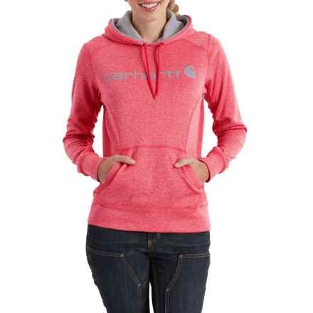 Carhartt Force Extremes Signature Graphic Hoodie - Factory Seconds (For Women) in Bright Coral Heather - 2nds