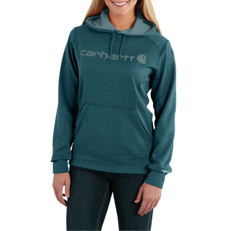 Carhartt Force Extremes Signature Graphic Hoodie - Factory Seconds (For Women) in Dark Stream Heather