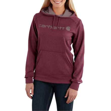 Carhartt Force Extremes Signature Graphic Hoodie - Factory Seconds (For Women) in Fudge Heather - 2nds